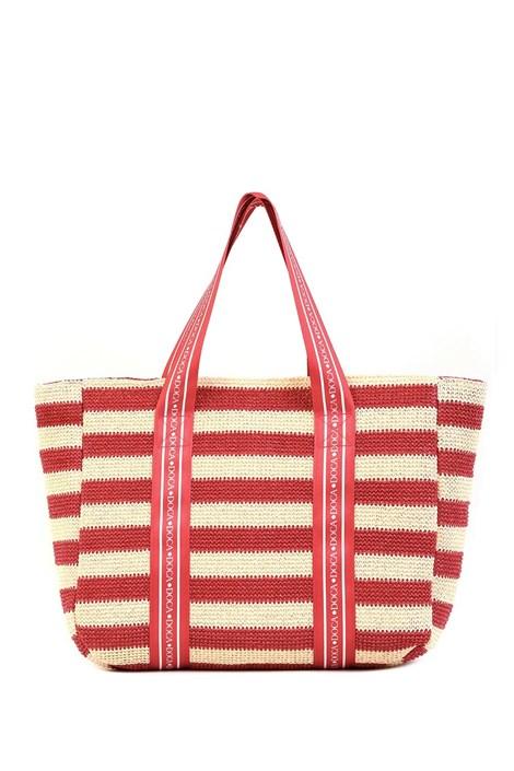 Damska torba plażowa Elle czerwona
