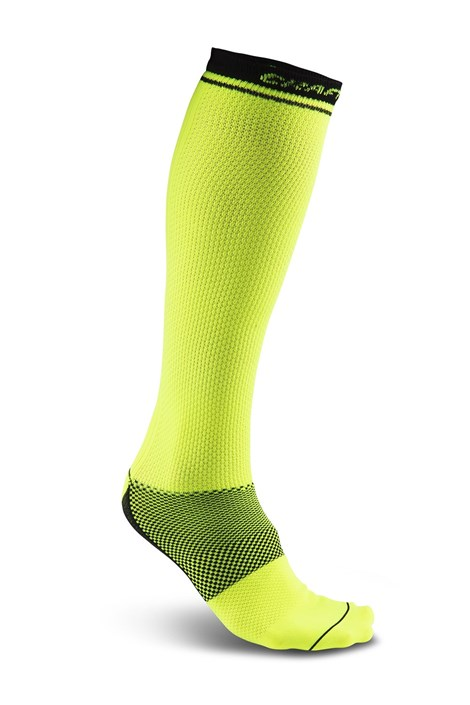 Sosete CRAFT Body Control galben-neon