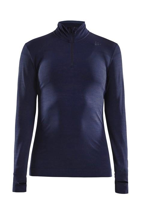 Bluza dama Craft Fuseknit Comfort Zip, albastru inchis
