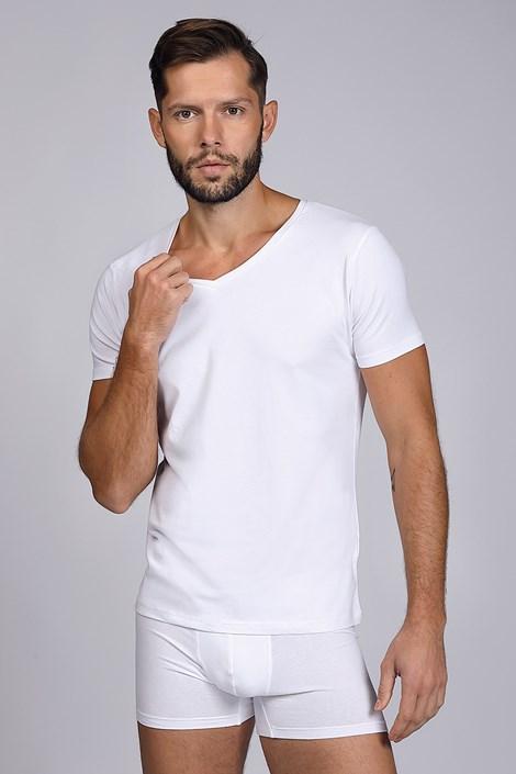 Bijela majica s V izrezom Pamuk Nature
