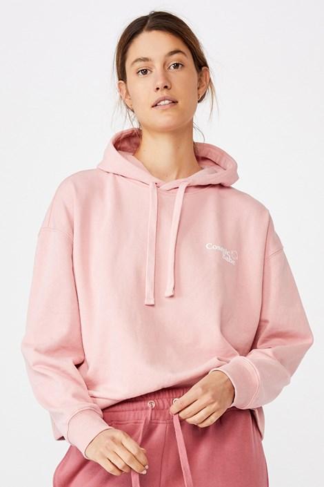 Дамско розово спортно горнище