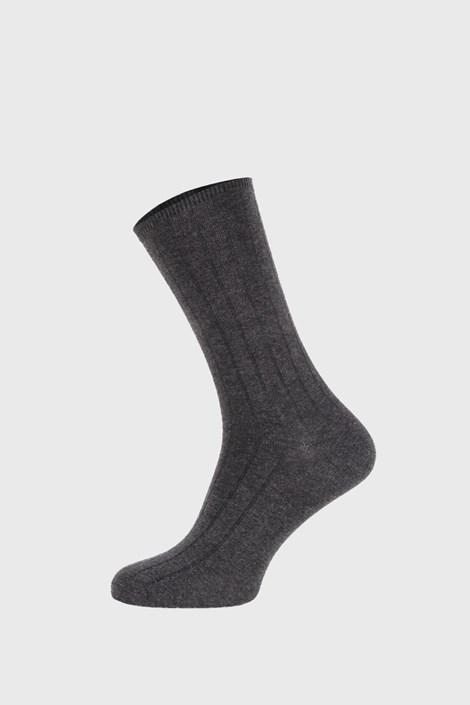 Bordázott szürke zokni