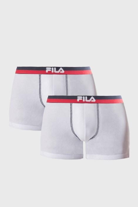 Dvojno pakiranje belih boksaric z rdeče-modro elastiko FILA