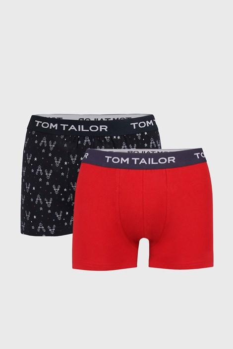 2 PACK синьо-червени боксерки Tom Tailor