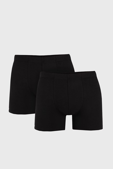 2 PACK boxeri barbatesti Uomo Cotton, negru