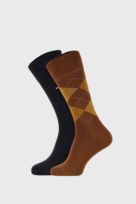 2 PACK khaki ponožiek Tommy Hilfiger Check
