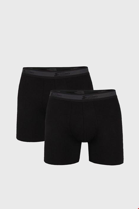 2 pack pánskych boxeriek UOMO Noir dlhšie