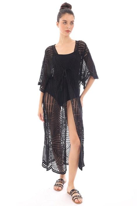 Črna obleka za na plažo Mairi
