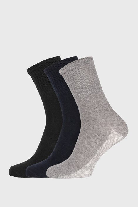 3 PACK farebných športových ponožiek unisex