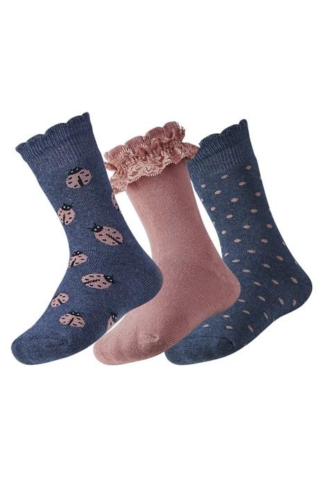 3 pack detských hrejivých ponožiek Lily