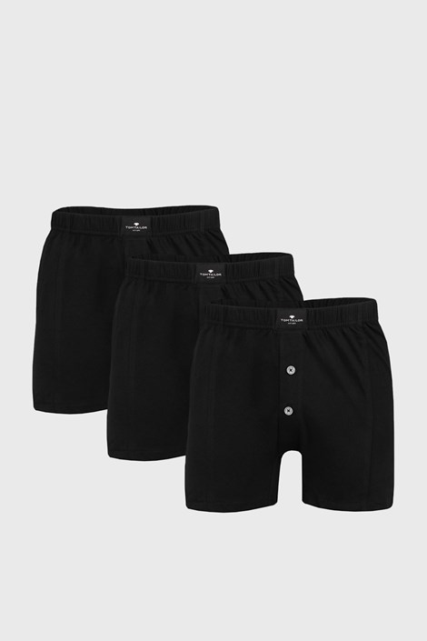 3 PACK черни шорти Tom Tailor