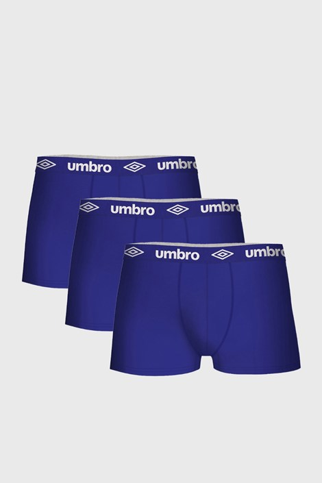 3 PACK modrých bavlnených boxeriek Umbro
