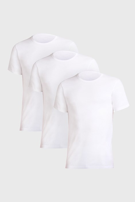 3 PACK λευκό μπλουζάκι Uomo Comfort