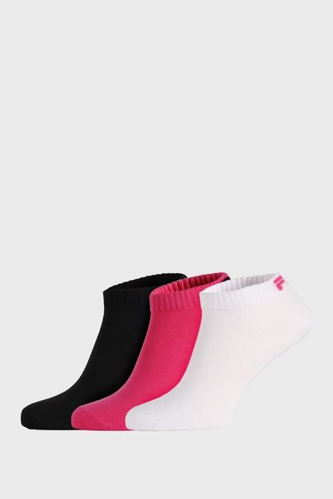 3 PÁR alacsony zokni FILA Black Fuxia