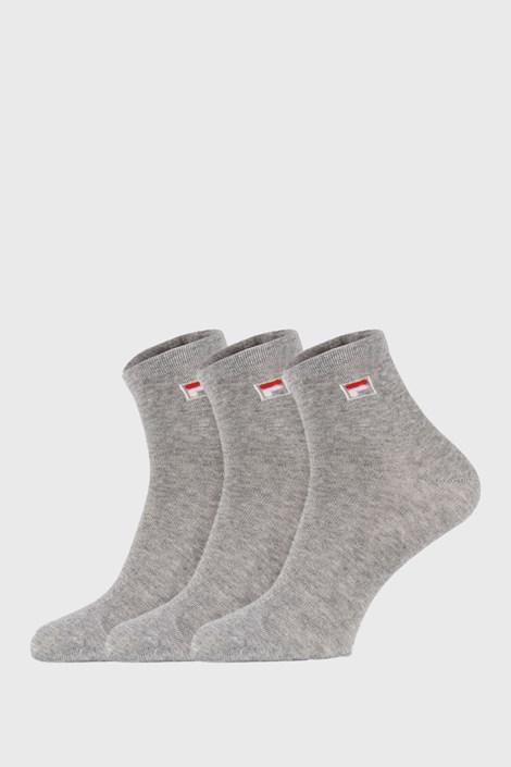 3 pack sivých členkových ponožiek FILA