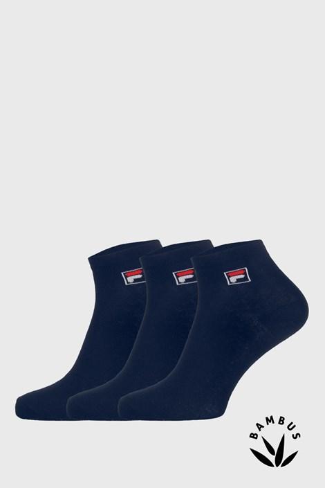 3 pack tmavomodrých členkových ponožiek FILA