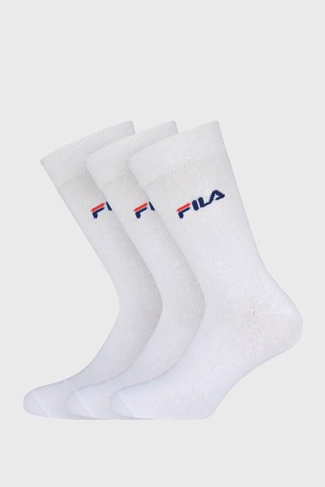 3 pack bielych tenkých vysokých ponožiek FILA
