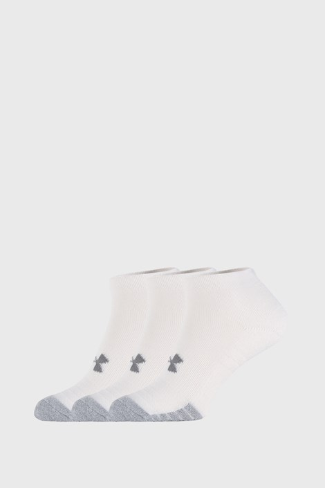 3 PACK bielych ponožiek Under Armour Locut