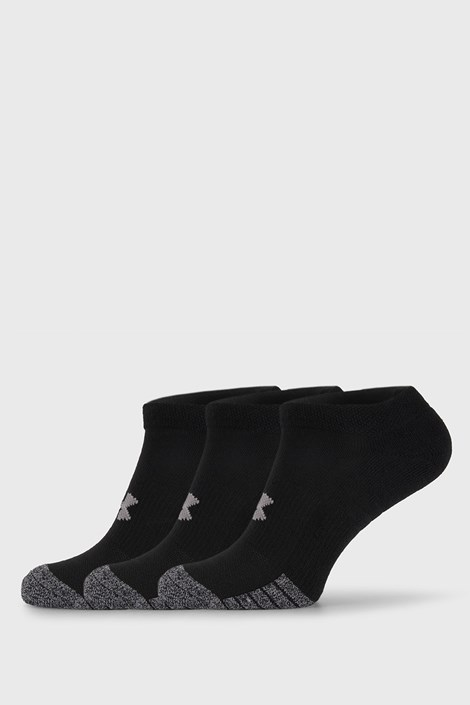 3 PACK crnih čarapa Under Armour