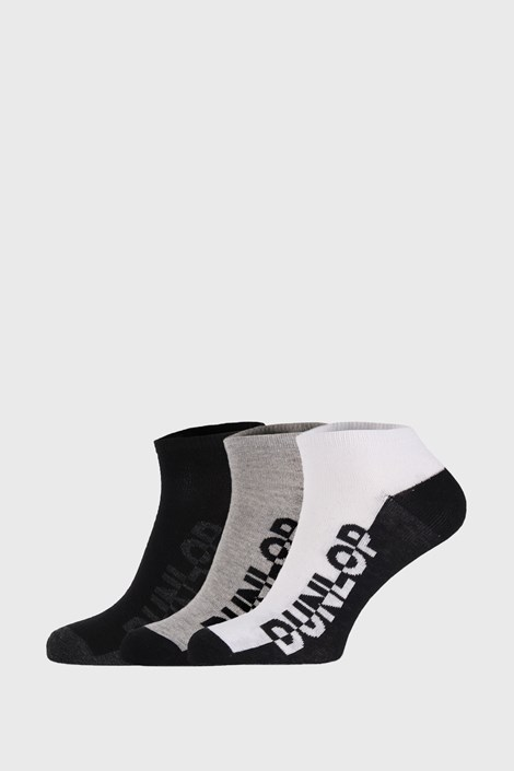 3 PACK черно-сиви чорапи Dunlop