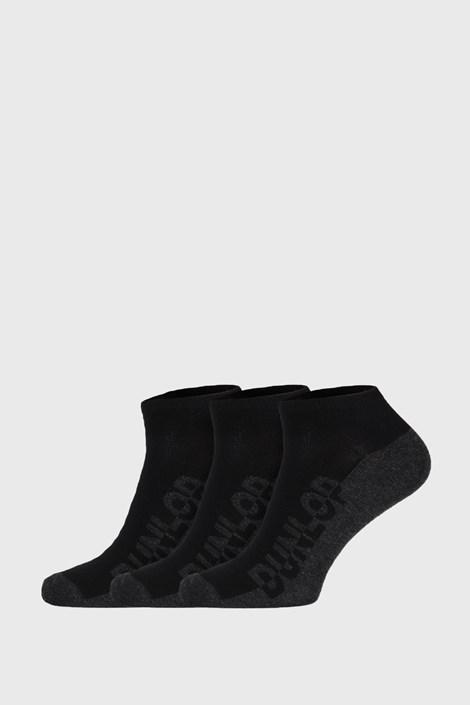 3 PACK čiernych ponožiek Dunlop