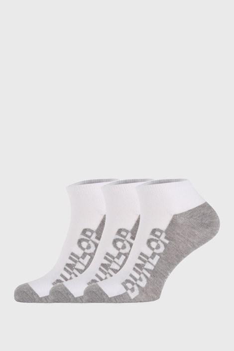 3 PÁR fehér zokni Dunlop