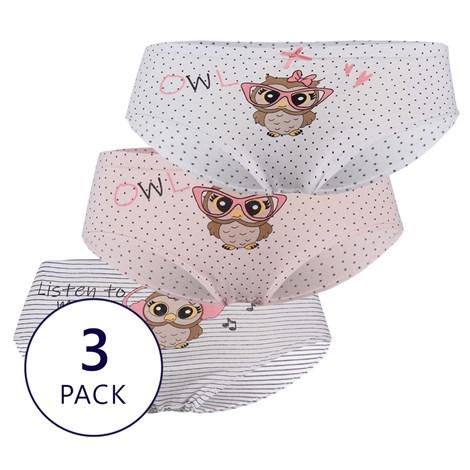 3 PACK dekliške hlačke Owl