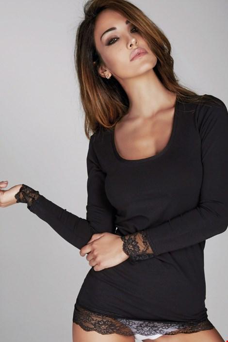 Дамска фланелка Laura с дантела