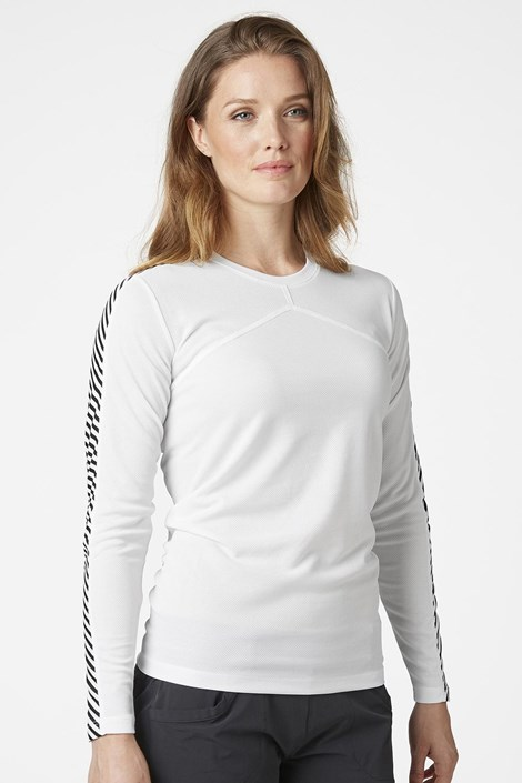 Dámske biele tričko s dlhými rukávmi Helly Hansen
