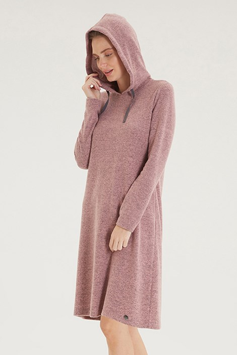 Hoodie Dress szabadidő női ruha, rózsaszín