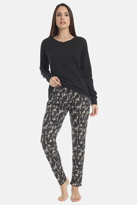 Flowery black női pizsama