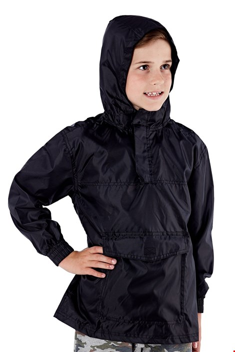 Dječja jakna za džep ProClimalite crna nepromočiva