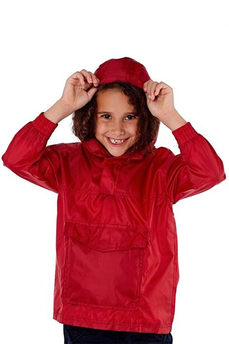 Jacheta rosie copii pliabila ProClimalite, material impermeabil