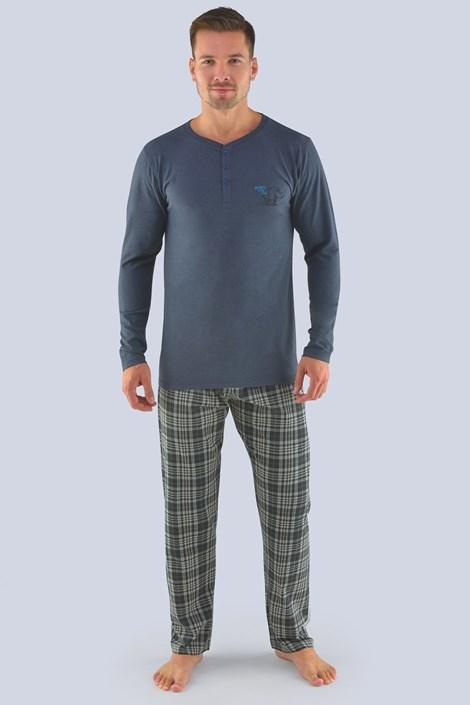 Мъжка пижама сива с дълъг ръкав