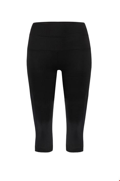 Capri fekete női sport leggings