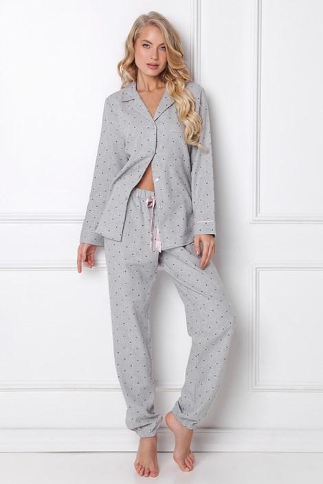 Pijama dama Christy, lunga, din flanel