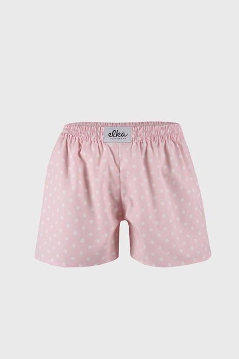 Дамски розови шорти ELKA LOUNGE на точки