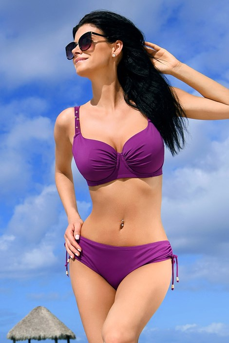 Jimbaran női fürdőruha felsőrész, purple