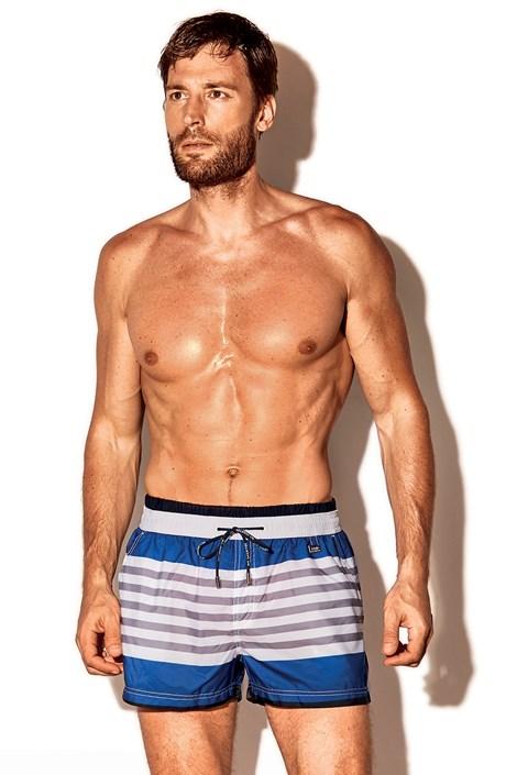 Moške kopalne kratke hlače Atlantis, modro-bele