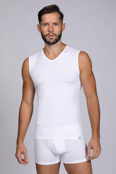 Tricou alb, fara maneci