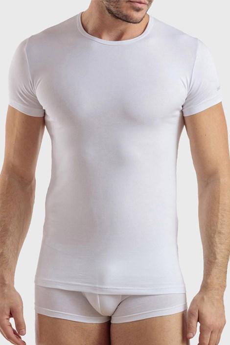 Бяла памучна тениска PLUS SIZE