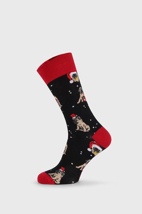 Karácsonyi zokni Pug