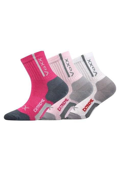 3 pack športových dievčenských ponožiek Josífek