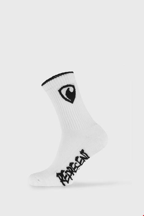 Biele ponožky Represent Long