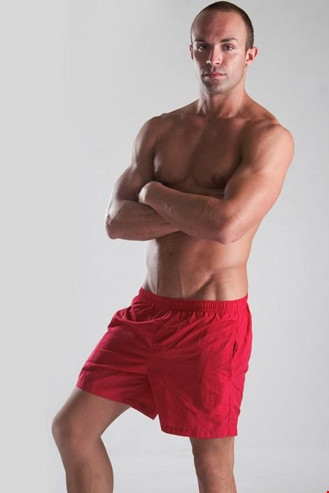 Мъжки бански шорти червени