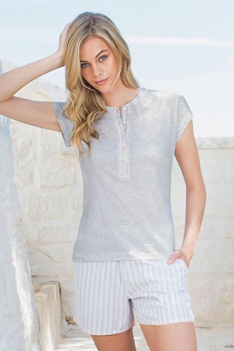 Damska piżama - T-shirt z krótkimi spodenkami