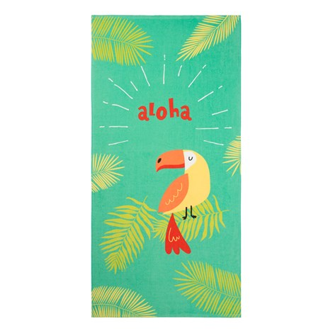 Детска плажна кърпа Папагал