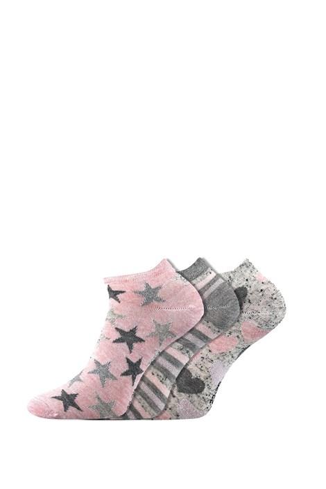 3 PACK дамски чорапи Piki 46 плитки
