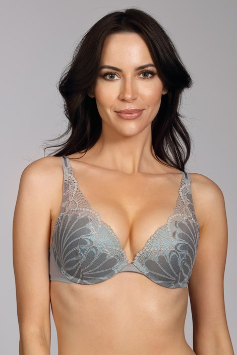 Biustonosz Wonderbra Triangel Double Push-Up Grey