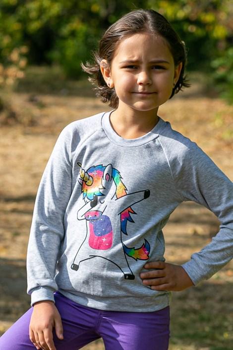 Bluza fetite Unicorn, material subtire